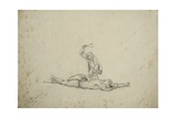 Damara under Punishment for Robbing a Bushman's Hut, 27th January 1862 Giclee Print by Thomas Baines