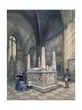 Tomb of Gustav I in Uppsala Cathedral, from 'teckningar Efter Naturen Sverige Interiuer Och… Giclee Print by Karl Johann Billmark