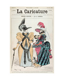 Winter Fashions, from 'La Caricature', 1887 Giclee Print by Albert Robida