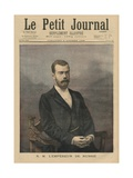 His Majesty Emperor Nicholas II of Russia, Front Cover Illustration of 'Le Petit Journal',… Giclee Print by Fortune Louis Meaulle