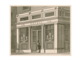 Shop Front for Astell, Wine and Spirit Warehouse, Grafton Street, Tottenham Court Road Giclee Print by Nathaniel Whittock