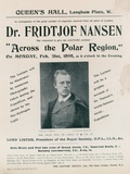 Programme for Dr Fridtjof Nansen Lecture, across the Polar Region Photographic Print