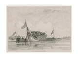 The Stationer's Barge, River Thames, London Giclee Print by Edward William Cooke