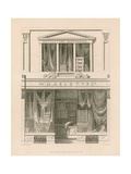 Shop Front for W H Ablett, Outfitting Warehouse, Cornhill, London Giclee Print by Nathaniel Whittock