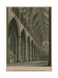 Westminster Abbey, London, from the West Entrance Giclee Print by Thomas Malton