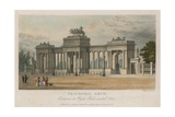 Triumphal Arch, Entrance to Hyde Park Corner, London, Erected 1827 Giclee Print by Samuel Rawle