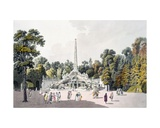 View of the Garden at the Palace of Schoenbrunn, Vienna, 1790s Giclee Print by Laurenz Janscha