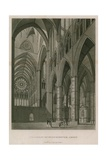 Transept of Westminster Abbey, London Giclee Print by Thomas Malton