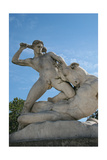 Theseus Slaying Minotaur. Statue. The Garden of the Tullerias. Paris. France Giclee Print