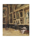 In the Louvre, 1898 Giclee Print by Louis Beraud