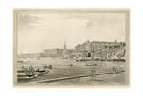 View of Somerset Place, the Adelphi, Etc from the Temple Garden Giclee Print by Joseph Farington