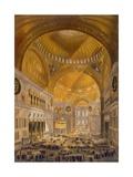 Gaspard Fossati - Hagia Sophia, Constantinople, 1852 Digitálně vytištěná reprodukce