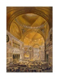 Hagia Sophia, Constantinople, 1852 Giclee Print by Gaspard Fossati