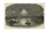 Balloon and Display of Fireworks, Vauxhall Gardens, London Giclee Print