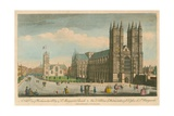 A South View of Westminster Abbey and St Margaret's Church, London Giclee Print by Thomas Bowles