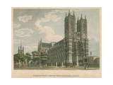 North West View of Westminster Abbey, London Giclee Print by Thomas Malton