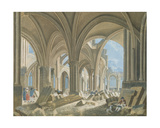 Demolition of the Church of Saint-Jean-En-Greve, C.1800 Giclee Print by Pierre Antoine Demachy
