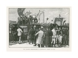 The Chartist Demonstration on Kennington Common, London Giclee Print by William Barnes Wollen