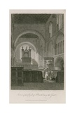 Interior of Church of St Bartholomew the Great Giclee Print by Frederick Nash