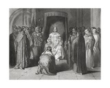 King Richard II Knighting the Kings of Connaught, Ulster, Thomond and Leinster in 1394, 'The… Giclee Print by Henry Warren