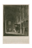 Interior of Church of St Bartholomew the Great Giclee Print by John Coney