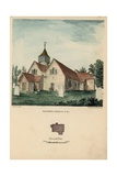 South West View of Tooting Church Giclee Print by Charles Burton