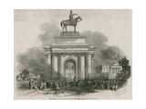 The Great Wellington Statue and Arch as it Would Appear from Constitution Hill Giclee Print by Ebenezer Landells