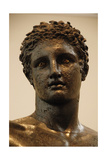 Greek Art. Greece. 4th Century Bce. Bronze Statue of a Youung Identified as Perseus or Paris. Bust Giclee Print