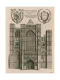 The West Prospect of the Late Conventual Church of Westminster, London Giclee Print by Wenceslaus Hollar