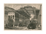 The New Station of the Metropolitan and London, Chatham and Dover Railway, Farringdon Road, London Giclee Print