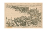 London Bridge and its Surroundings About the Year 1600 Giclee Print by Henry William Brewer