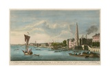 A View of London Taken Off the Thames Near York Buildings Wydruk giclee autor John Boydell