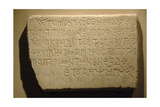 Marble Slab with Funerary Inscription in Greek Giclee Print
