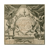 Invitation to Attend the Funeral of Mr Richard Mackleston in 1732 Giclee Print