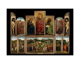 The Ghent Altarpiece, 1432 Reproduction procédé giclée par Hubert & Jan Van Eyck