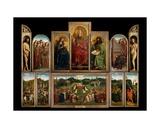 The Ghent Altarpiece, 1432 Wydruk giclee autor Hubert & Jan Van Eyck