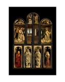 Exterior of Left and Right Panels of the Ghent Altarpiece, 1432 Giclee Print by Hubert & Jan Van Eyck