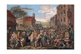 A Representation of the March of the Guards Towards Scotland in the Year 1745 Giclee Print by William Hogarth
