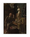 Artist in His Studio, 1885 Giclee Print by Louis van Engelen