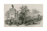 The Great Wellington Statue and Arch as it Would Appear from the Green Park, Piccadilly Giclee Print by Ebenezer Landells