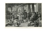 Scene in the Churchyard of St John's Church, Waterloo Road Giclee Print by Robert Barnes