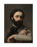 Self Portrait, 1863 Giclée-Druck von Charles Verlat