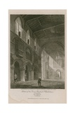 Interior of Church of St Bartholomew the Great Giclee Print by Thomas Malton