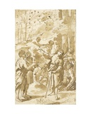 Joseph Telling His Dream to His Father and Brothers and Pointing to Eleven Stars in the Sky Giclee Print by Francesco Albani