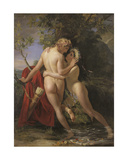The Nymph Salmacis and Hermaphroditus, 1829 Giclee Print by Francois Joseph Navez