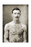 Tattoed British Sailor During the Great War of 1914-18 (Front View) Photographic Print