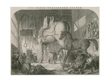 The Great Wellington Statue: Mr Wyatt's Atelier, or Model Room Giclee Print by Ebenezer Landells