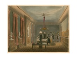 Ackermann's Library for Works of Art Giclee Print by Augustus Charles Pugin