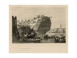 Ship Breaking Opposite Wapping Giclee Print by Samuel Prout