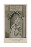 View of Handel's Monument in Westminster Abbey Giclee Print by Edward Francis Burney